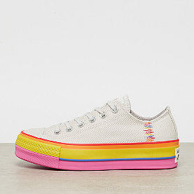 Converse Chuck Taylor All Star Lift Rainbow OX vintage wht/pale putty