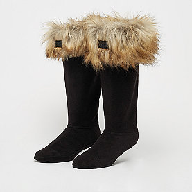 Hunter Faux Fur Cuff Boot Sock tawny