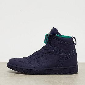 Jordan Wmns Air Jordan 1 High Zip  blackened blue/neptune green-wht