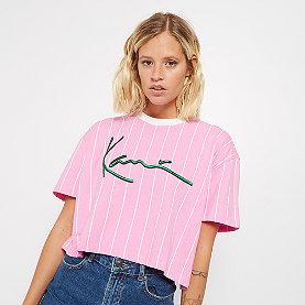 Karl Kani KK Signature Stripe Tee pink/white