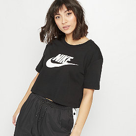 NIKE NSW Tee Essential Crop Icon Futura black/white