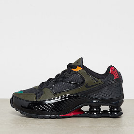 NIKE Shox Enigma 9000  black/ant.-cargo khaki-gym red
