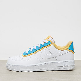 NIKE Wmns Air Force 1 '07 SE white/white-lt blue fury-topaz gold
