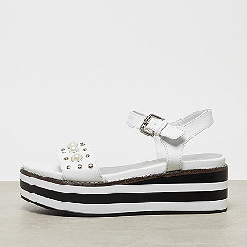 ONYGO Plateausandale pearls white