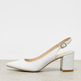 ONYGO Slingback Pumps mid block heel white