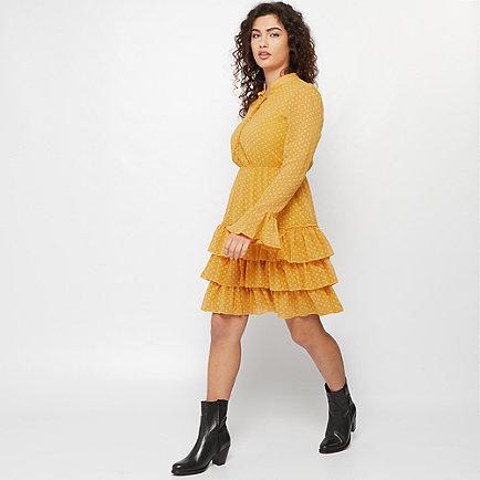 Effeny Tunika Kleid gelb