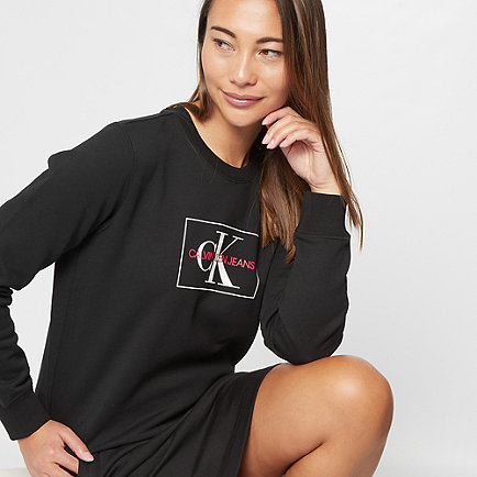 Calvin Klein Monogram Outline Crewneck black/white